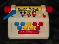 Vintage DISNEY Activity Toy TYPEWRITER Mickey Mouse GOOFY Donald Duck