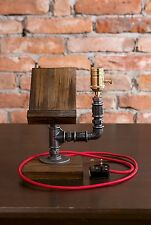 Vintage Industrial Retro Style Steel Cast Iron Table Desk Lamp and Phone Holder