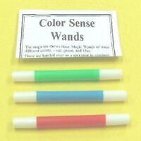 Magical Set of 3 Color Sense Wands Red, Green & Blue Magic Trick for Magicians