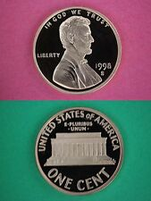 Roll of 50 1998 S Proof Lincoln Memorial Cents In Flips DCAMFlat Rate Shipping
