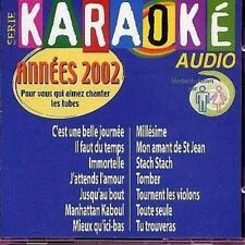 KARAOKE AUDIO ANNEES 2002 CHANTER LES TUBES - 2CDS ALBUM 14TITRES 2002