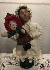 2000 Byers Choice Caroler Girl Child Raggedy Ann doll Pajama Kid