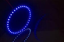 *USA SELLER* 110mm BLUE LED ANGEL EYE HALO RING LIGHT 3528 SMD (PAIR)