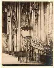 Autriche, Wien, Stefanskirche  Vintage albumen print Tirage albuminé  21x2