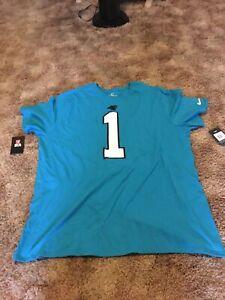 New Nike Carolina Panthers Adult NFL Cam Newton 1 3xl Jersey Mens T Shirt
