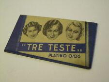 "ANTICA BUSTINA LAMETTA DA BARBA "" TRE TESTE "" PLATINO 0/06 - (VP)"