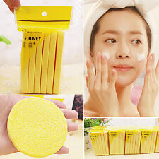 12X Cleansing Cellulose Face Wash Makeup Facial Round Sponge Buffer Remover ^