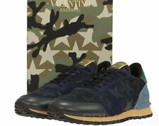 NEW VALENTINO GARAVANI MEN'S ROCKSTUDS STARS LACE-UP SNEAKERS SHOES  44/US 11