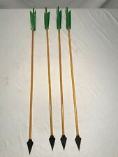 Lot of 4 Magnus Broadheads with Raptor Wood Primitive Recurve Archery Arrow