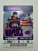 2019-20 Upper Deck Credentials Kevin Stenlund Debut Ticket Access Purple 7/10 SP