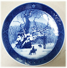Royal Copenhagen Blue Christmas Plate 1967 Kai Lange The Royal Oak 7""
