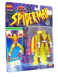 Marvel Figure - 1994 Power Blasts Shocker - Toybiz Spiderman Animated Series Vtg