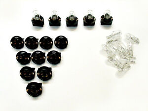 "15 Clear Incandescent Lights Bulbs Lamps 1/2"" Sockets 194 Dash Side Marker Chevy"