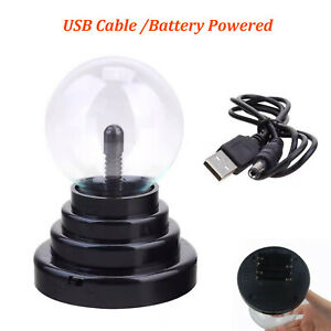 USB Plasma Ball Magic Light Desktop Decoration Decor Magic Lamp  Glass+Plastic