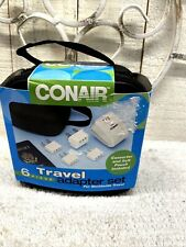 Travel Adapter Conair TK3 Converter and Worldwide Adapter Set White In Case New