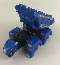 "Dinotrux Ton-ton 7"" Blue Dump Truck Dinosaur Dino Moving Rolling Toy Mattel"