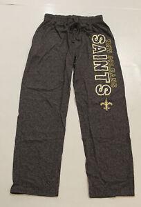 New Orleans Saints Men's NFL Team Apparel Pajama Pants SV3 Gray Medium NWT
