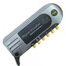 slx 28103FG Four Outlet Satellite Distribution Amplifier - Gold 4G Ready