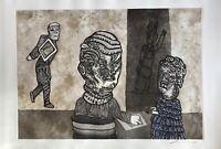 Cuevas José Luis gravure originale signée art abstrait Mexique Cuevas Blues