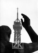 TOUR EIFFEL Paris Statue Antenne TV RTF Trocadéro 1957