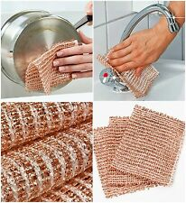 PACK OF 3 - HIGH QUALITY WENKO COPPER CLEANING CLOTHES SCRUBBERS GERMANY