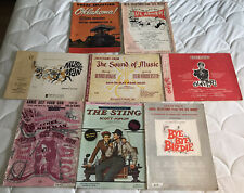 LOT OF 8 BROADWAY MUSICAL VOCAL SELECTION BOOKS