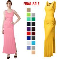 [FINAL SALE]Thanth Side Shirring Waist Sleeveless Maxi Dress
