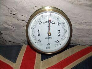 Antique/vintage Brass Marine Barometer made by Sestrel (Henry Browne& Sons) UK