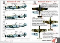 HAD Models Bf 109E  1/3/4 Kieki, Grace, Fortuna & Motti 1/48 decals