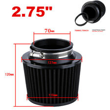 """1x 2.75"""" 70mm Inlet Cold Air Intake Cone Replacement Quality Air Filter Black"""