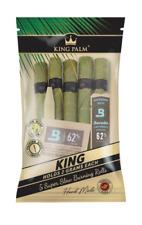 10X KING PALM WRAPS KING SIZE 100% LEAF ROLLS CORN HUSK FILTER BOVEDA HUMIDITY