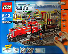 BRAND NEW LEGO 3677 RED CARGO TRAIN RETIRED HARD TO FIND CITY TRAIN EXCLUSIVE