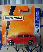 Matchbox 2006 - Porsche Caynne Turbo [RED] SHORT CARD  NEAR MINT VHTF