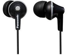 Panasonic RP-HJE125 In-Ear Stereo Headphones Earphones - Black