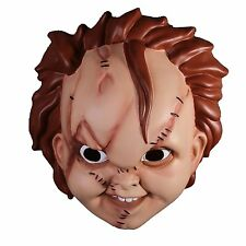 Bride of Chucky Childs Play Scarred Mask Maske Narbe Puppe Horror Kostüm Mezco