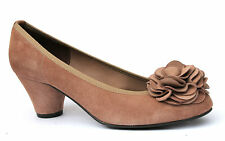 John Lewis UK 3 EU 36 Brown Suede Leather Floral Court Shoes RRP £90.00