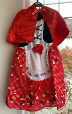 🐺LITTLE RED RIDING HOOD DRESSING UP COSTUME SIZE 9-10YRS BNWT