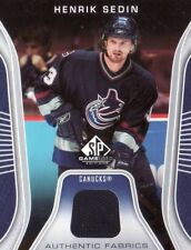 2006/07 HENRIK SEDIN SP GAME USED JERSEY CARD