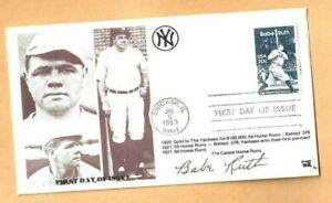 US Babe Ruth Sultan Of Swat Baseball FDC Cover Unsealed First Day Of Issue