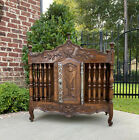 Antique French Country Panetiere Bread Safe Cabinet Cupboard Walnut 19th Century