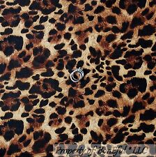 BonEful Fabric Cotton Quilt Brown Black Skin Leopard Jungle Cheetah Hair L SCRAP