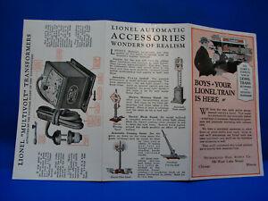 "Rare Original 1924 Lionel Archive ""Boys Your Train"" Miniature Consumer Folder C9"