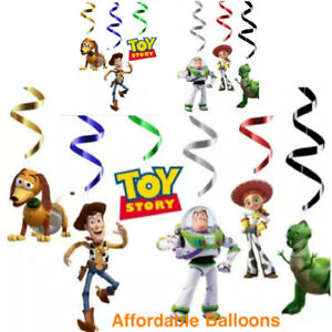 Toy Story Happy Birthday Party Hanging Swirl Banner Bunting Decorations Set Of 6