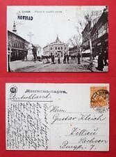 AK NOVI SAD in Serbien 1922 Platzansicht mit Denkmal   ( 22655