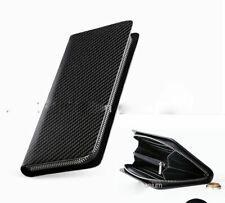 Gentleman 3K Twill zipper Carbon Fiber Money Card Wallet Long Moneybag Handbag