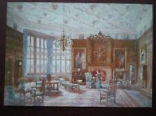 POSTCARD MONTGOMERYSHIRE POWIS CASTLE - THE OAK DRAWING ROOM