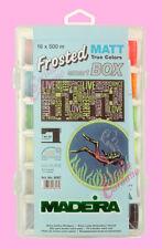 SMART BOX SET 18 FILATI FILO MADEIRA FROSTED MATT DA PER RICAMO EXTRA OPACO