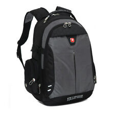 Swiss Gear Laptop Backpack Student Bag Outdoor Travel Hiking Bag Rucksuck Gray