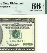 1996 $20 RICHMOND * STAR * ⭐️  FRN, PMG GEM UNCIRCULATED 66 EPQ BANKNOTE, 1st
