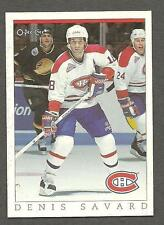 1993 OPC Fanfest Puck Canadiens' Denis Savard, Card #50